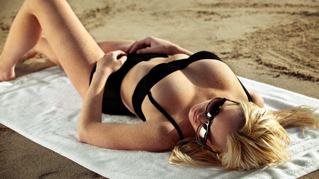 PHOTO: Lindsay Lohan sunbathes in a still from First Point.