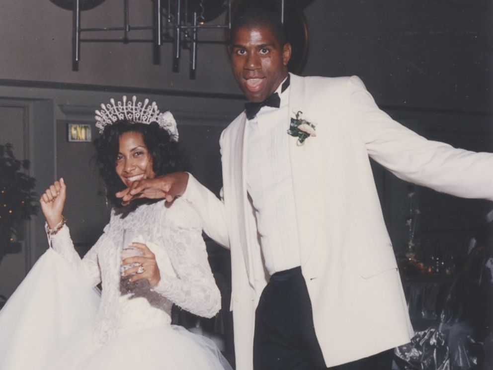 PHOTO: Cookie Johnson and Earvin Magic Johnson are pictured on their wedding day, Sept. 14, 1991.
