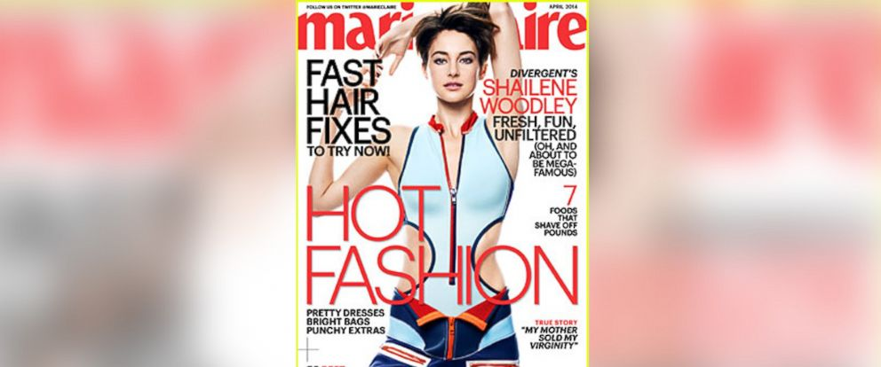 PHOTO: Shailene Woodley is pictured on the April 2014 cover of Marie Claire.