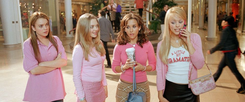 "Lindsay Lohan, Amanda Seyfried, Lacey Chabert and Rachel McAdams appear in the 2004 film, ""Mean Girls."""