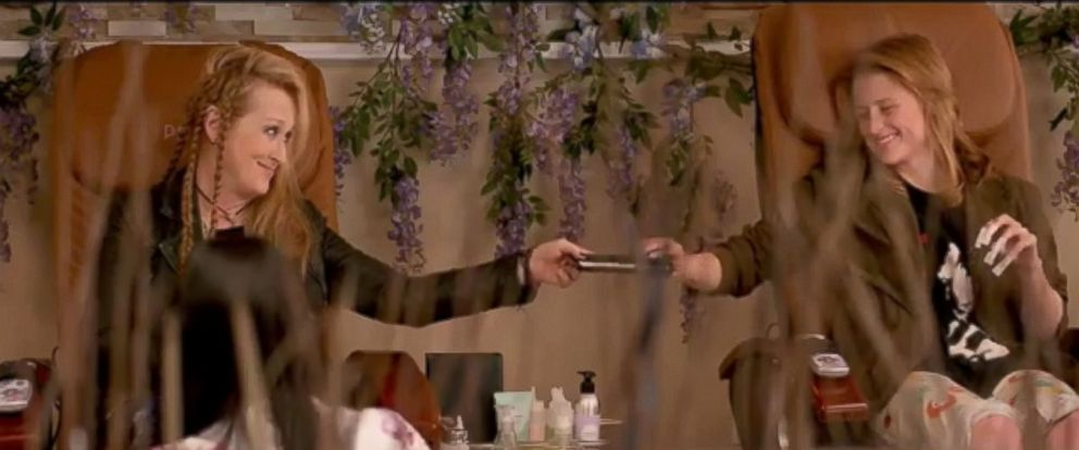 "PHOTO: Meryl Streep and Mamie Gummer appear in the trailer for ""Ricki and the Flash""."