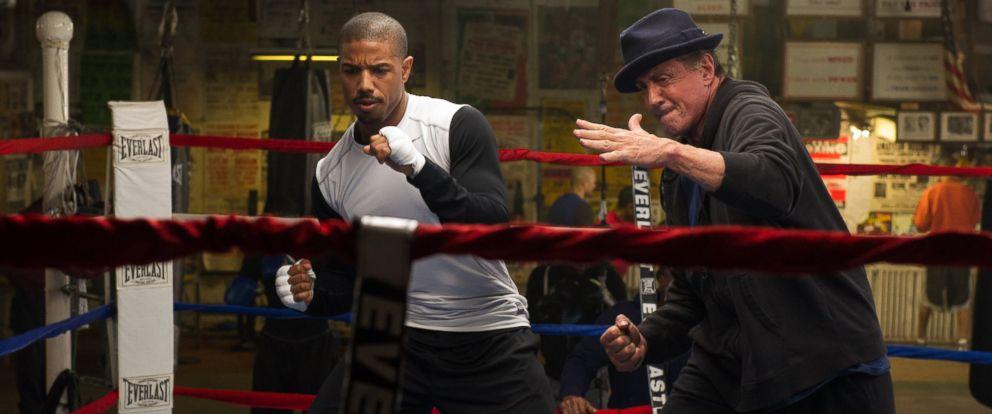 "PHOTO: Michael B. Jordan as Adonis Johnson and Sylvester Stallone as Rocky Balboa in ""Creed""."