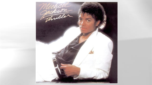 "PHOTO: The cover of Michael Jacksons ""Thriller"" is shown."