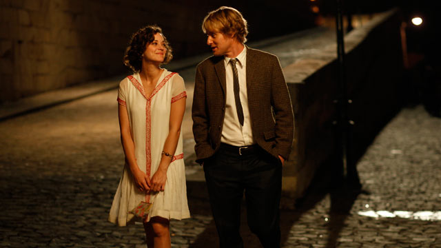 PHOTO: Midnight in Paris stars Own Wilson and Marion Cotillard.
