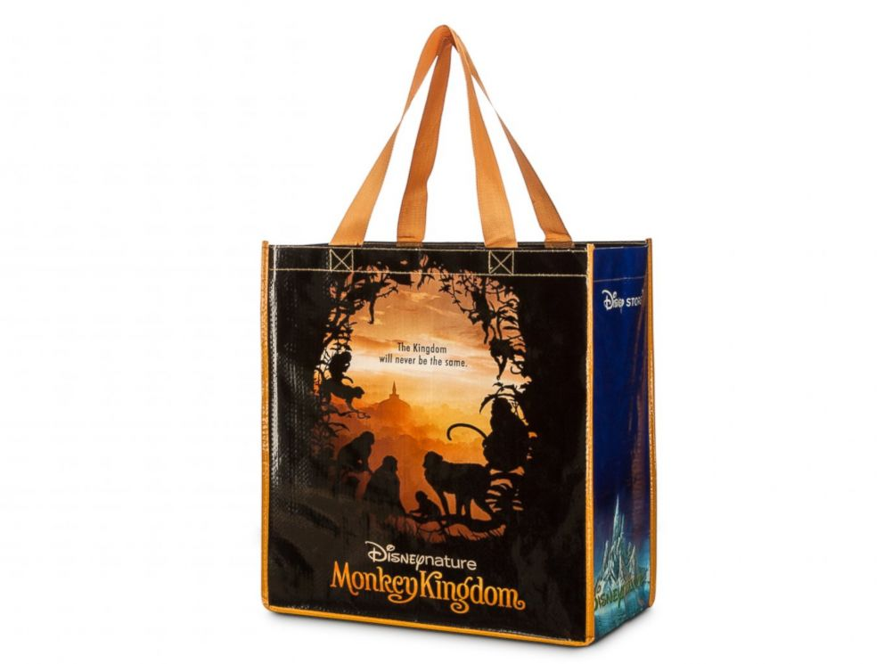PHOTO: On 2015 Earth Day, April 22, Disney Stores are offering a free Disneynature Monkey Kingdom reusable tote bag with any purchase, while supplies last.