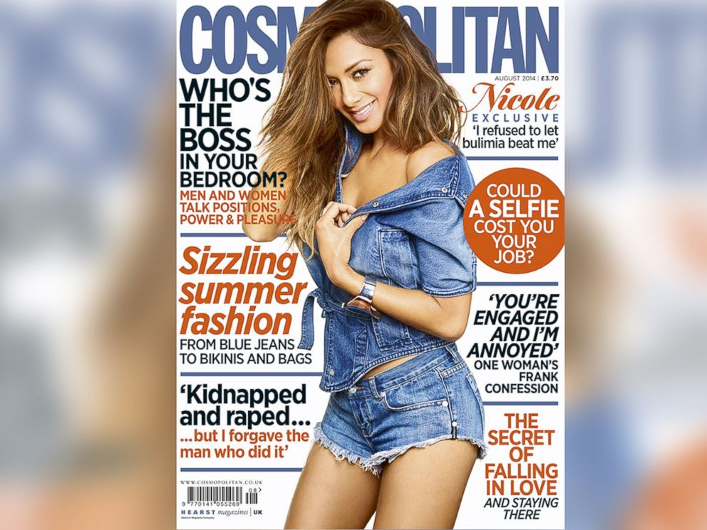 PHOTO: Nicole Scherzinger on the August, 2014 cover of Cosmopolitan UK.