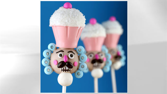 PHOTO: Bakerella's nutcracker cake pops are shown here.