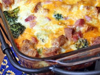 Erin chases ham and broccoli breakfast casserole recipe abc news photo erin chases breakfast casserole is shown here forumfinder Image collections