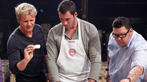 """PHOTO Gordon Ramsay converses with contestants on """"MasterChef,"""" the newest additions to the ever-expanding cornucopia of food-centric TV shows."""