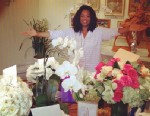 """PHOTO: Oprah Winfrey posted on her Twitter page an instagram of her and her birthday flowers, saying """"Beautiful birthday. Thanks All!"""", Jan. 30, 2013."""