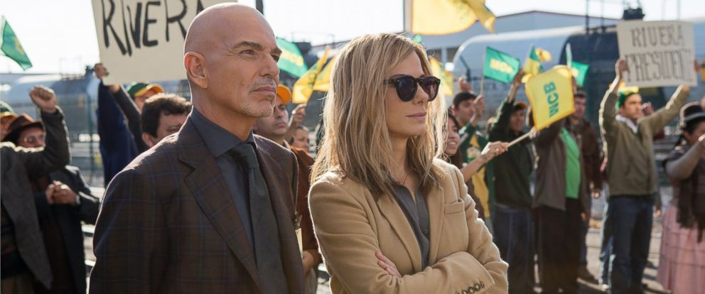"""PHOTO: (L-r) BILLY BOB THORNTON as Pat Candy and SANDRA BULLOCK as Jane in Warner Bros. Pictures and Participant Medias satirical comedy """"OUR BRAND IS CRISIS,"""" a Warner Bros. Pictures release."""