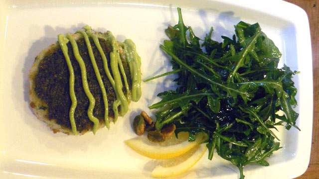 PHOTO: Diane Henderiks' pistachio crab cake is shown here.