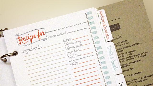 PHOTO: Recipe card binder