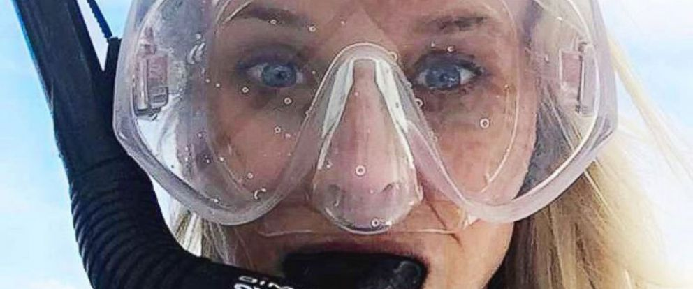 """PHOTO: Reese Witherspoon posted this photo to her Instagram account, July 3, 2016, with the caption, """"Off to find Dory! (Yes, my snorkel gear is pink)."""""""