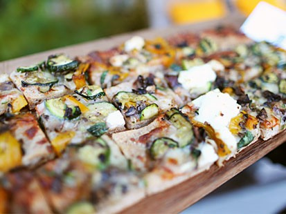 PHOTO Roasted Vegetable And Ricotta Pizza