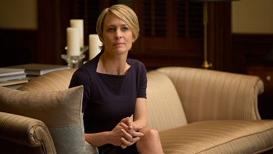 """PHOTO:Robin Wright in a scene from Netflix's """"House of Cards."""""""