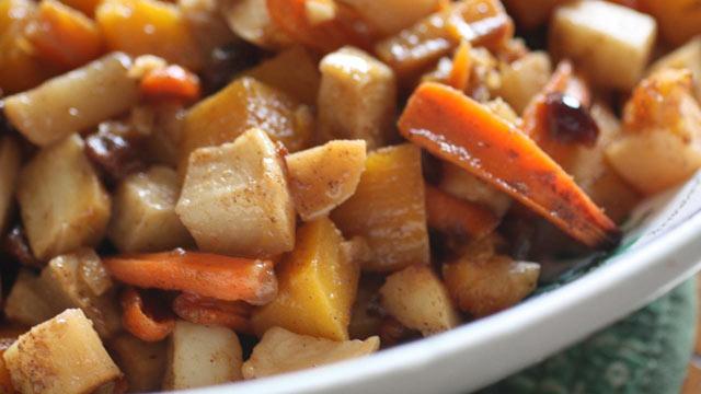 PHOTO: Rachel Willen's root vegetable tzimmes is shown here.