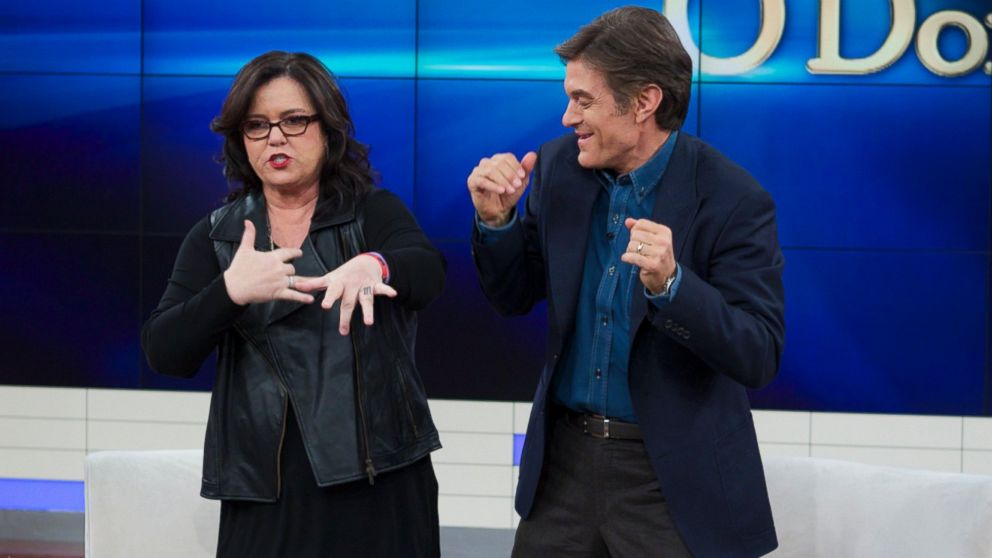 Rosie O'Donnell, left, and Dr. Oz, right, are pictured.