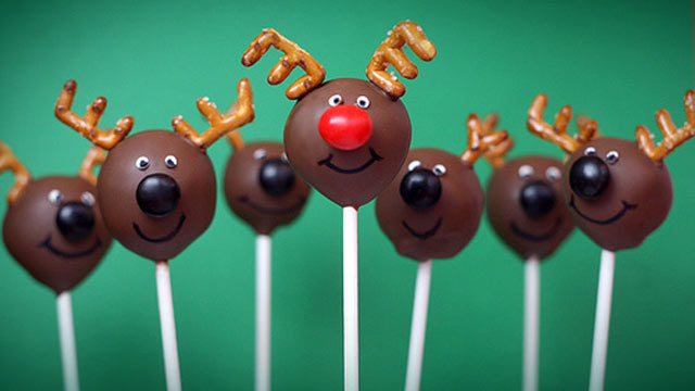 PHOTO: Bakerella's reindeer cake pops are shown here.
