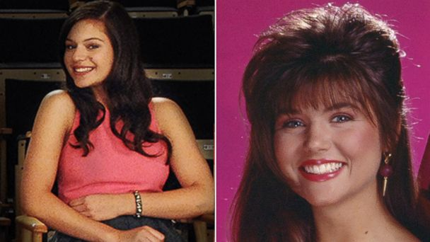 "PHOTO: Alyssa Lynch portrays Tiffani Amber Thiessen in Lifetimes ""The Unauthorized Saved by the Bell Story."""