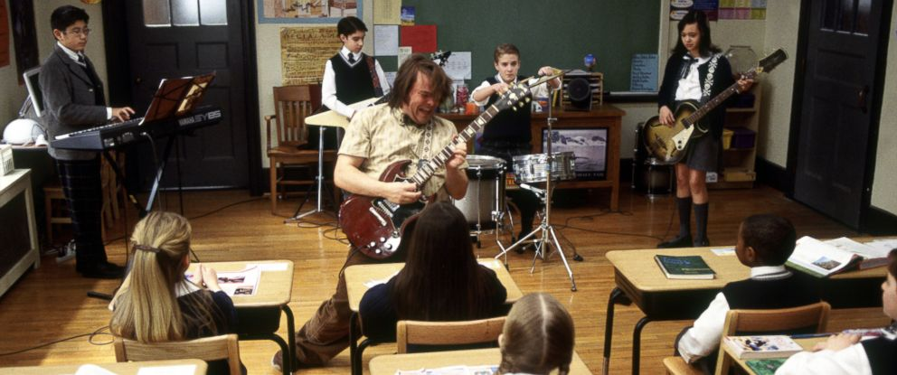 """PHOTO: Jack Black as Dewey in 2003s """"School of Rock"""" from Paramount Pictures."""