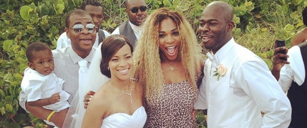 "PHOTO: Serena Williams posted this photo on Instagram on May 30, 2014 with the caption, ""Wedding crasher!! Congrats!"""