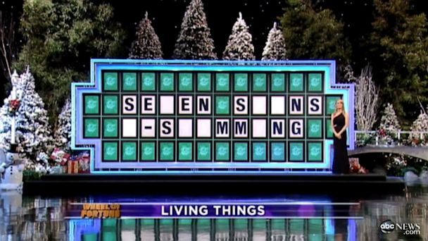 "PHOTO: A contestant on the game show ""Wheel of Fortune"" lost a round after misprouncing ""swimming"", sparking outrage."