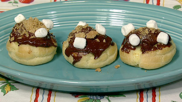 PHOTO:Carla Hall's s'mores cream puffs are shown here.