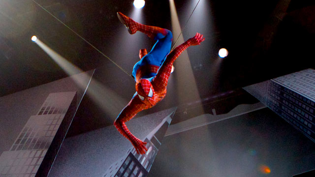 PHOTO:Spider-Man makes his New York debut. A scene from SPIDER-MAN Turn Off The Dark