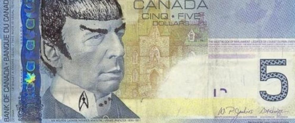 Spocking' Money Legal but 'Inappropriate,' Bank of Canada