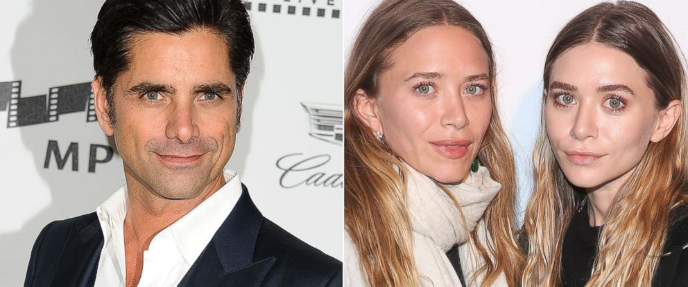 PHOTO: John Stamos, left, and Mary Kate and Ashley Olsen.
