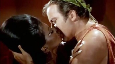PHOTO: Captain Kirk kissing Uhura