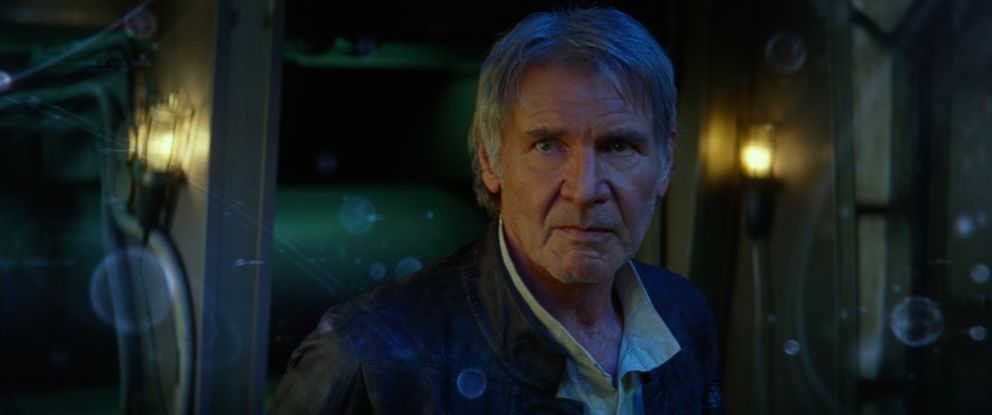 "PHOTO:Harrison Ford appears as Han Solo in ""Star Wars: The Force Awakens."""