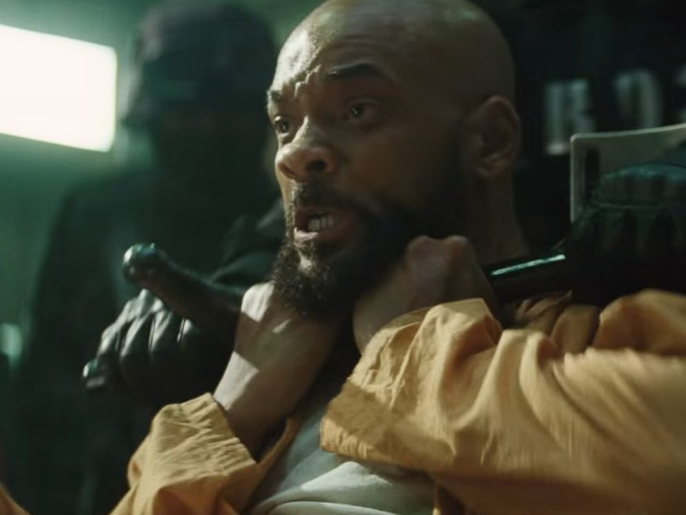 PHOTO: Will Smith is pictured in an image made from the official Suicide Squad trailer posted to YouTube on Jan. 19, 2016.