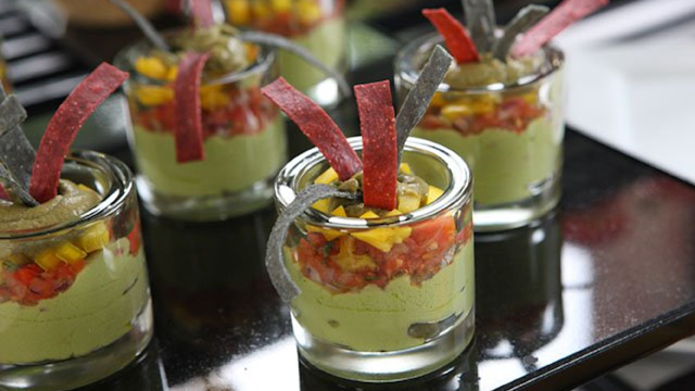 PHOTO: Andrea Correale's guacamole parfaits are shown here.