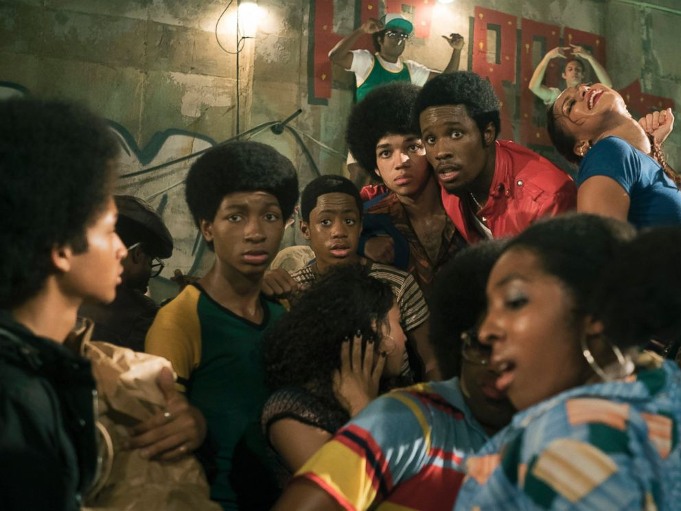 PHOTO: (L-R)Jaden Smith, Tremaine Brown Jr., Skylan Brooks, Justice Smith and Shameik Moore star in the new Netflix seriesThe Get Down.