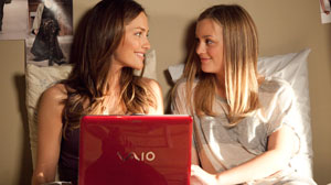PHOTO Minka Kelly, left, and Leighton Meester star in Screen Gems thriller The Roommate.