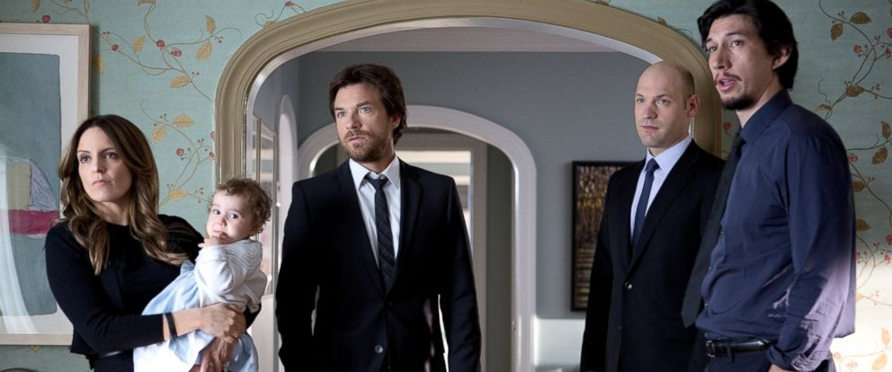 "PHOTO: From left, Tina Fey, Jason Bateman, Corey Stoll, and Adam Driver are pictured in a still from ""This Is Where I Leave You."""