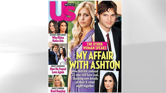PHOTO: Ashton Kutcher and Sara Leal appear on US Weekly Cover.