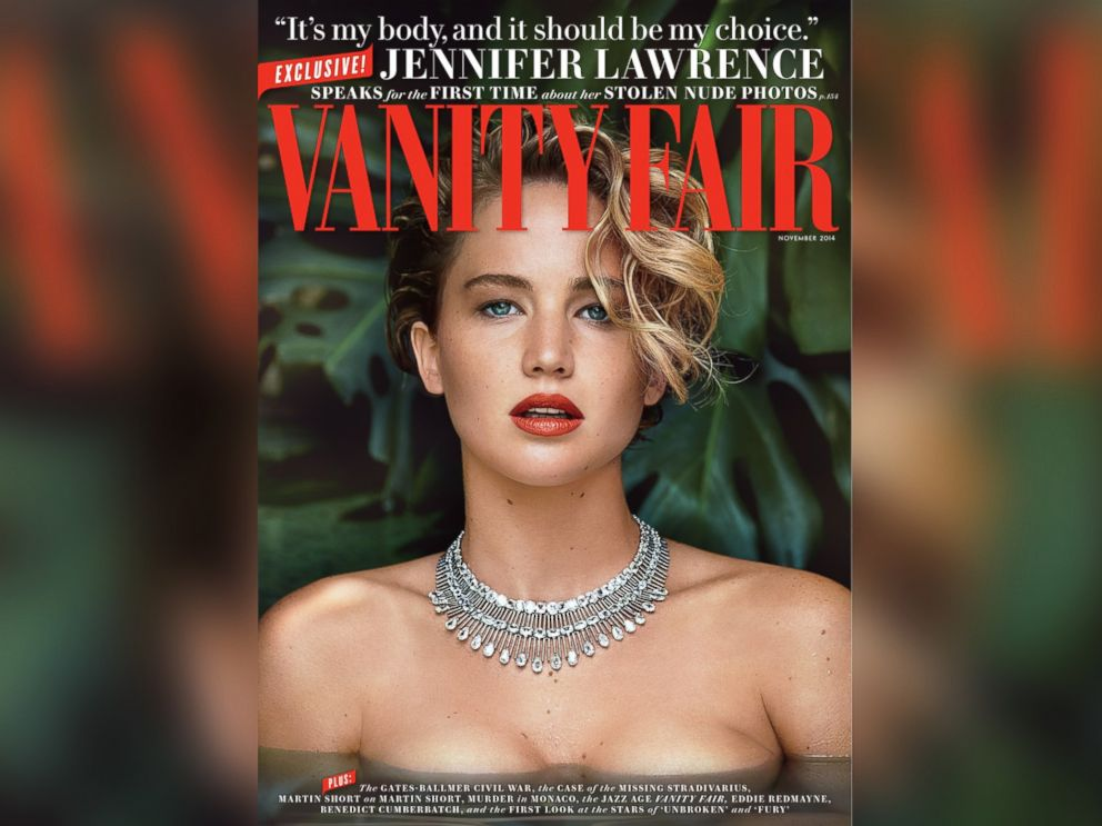 PHOTO: Actress Jennifer Lawrence appears on the cover of the November, 2014 issue of Vanity Fair.