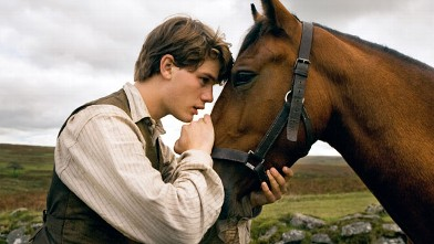 "PHOTO: Albert (Jeremy Irvine) and his horse Joey are featured in this scene from DreamWorks Pictures' ""War Horse""."