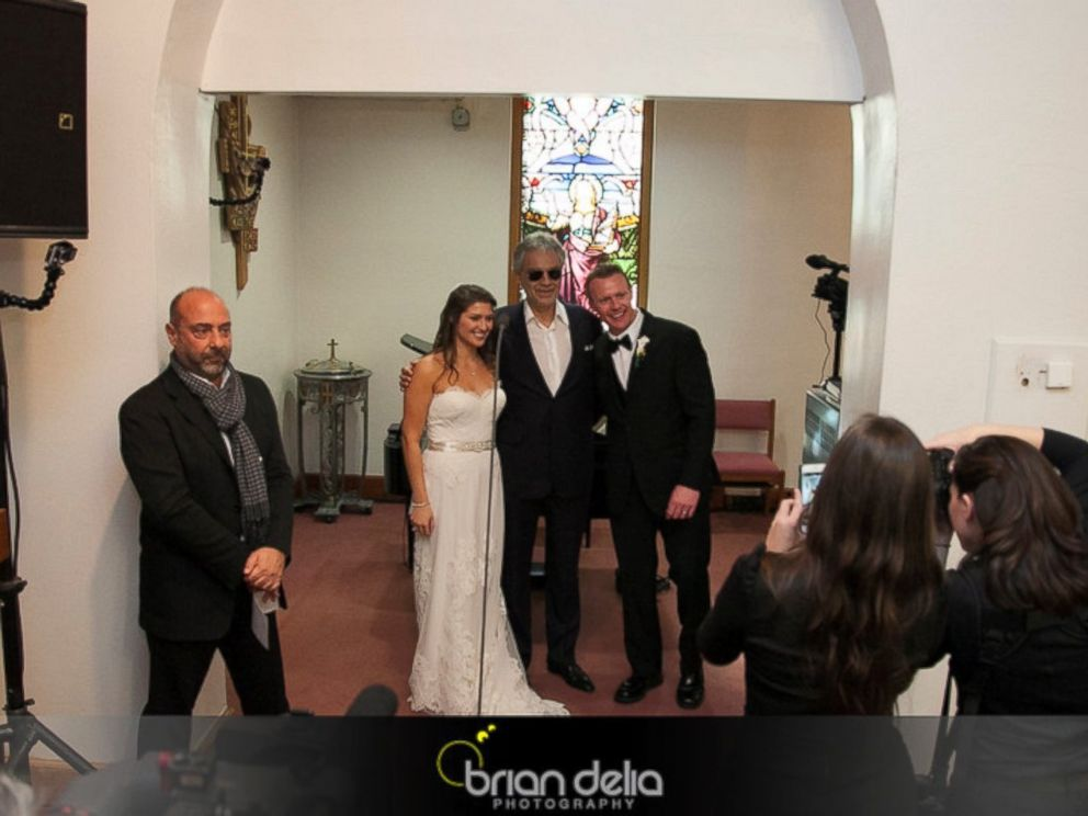 watch andrea bocelli go undercover to surprise bride with a wedding