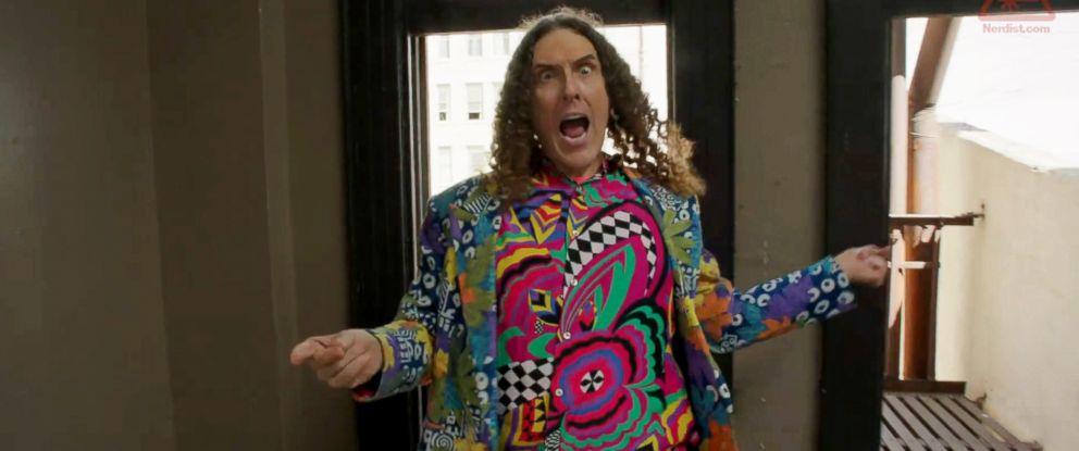 """PHOTO: Weird Al Yankovic is seen in a still made from the """"Tacky"""" video released via Nerdist.com on July 14, 2014."""