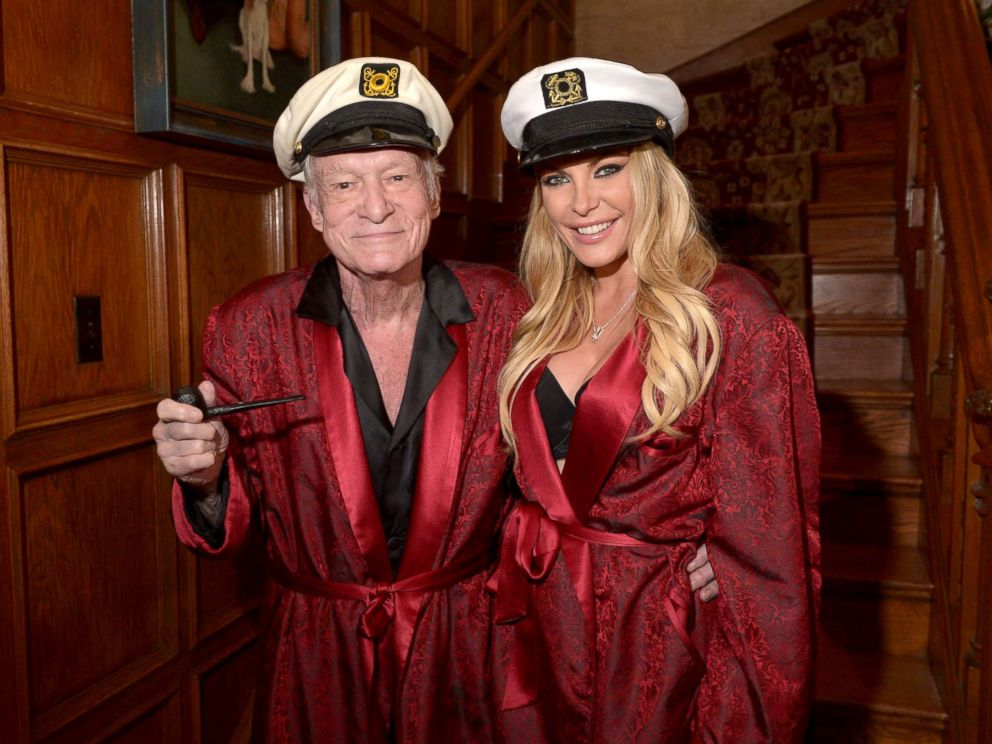 PHOTO: Hugh Hefner and Crystal Hefner attend Playboy Mansions Annual Halloween Bash at The Playboy Mansion, Oct. 25, 2014, in Los Angeles.