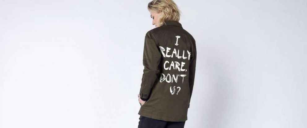 "PHOTO: WILDFANG has launched a new clothing line with the words ""I Really Do Care"" to raise money for charities in Texas providing legal assistance to immigrants."