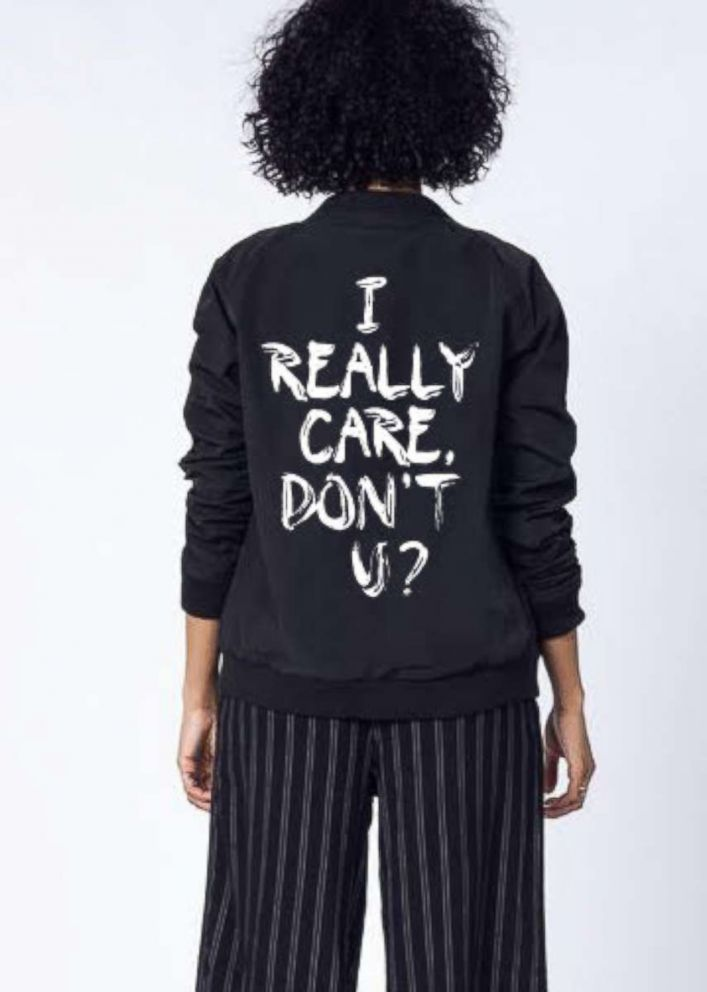 PHOTO: WILDFANG has launched a new clothing line with the words I Really Do Care to raise money for charities in Texas providing legal assistance to immigrants.