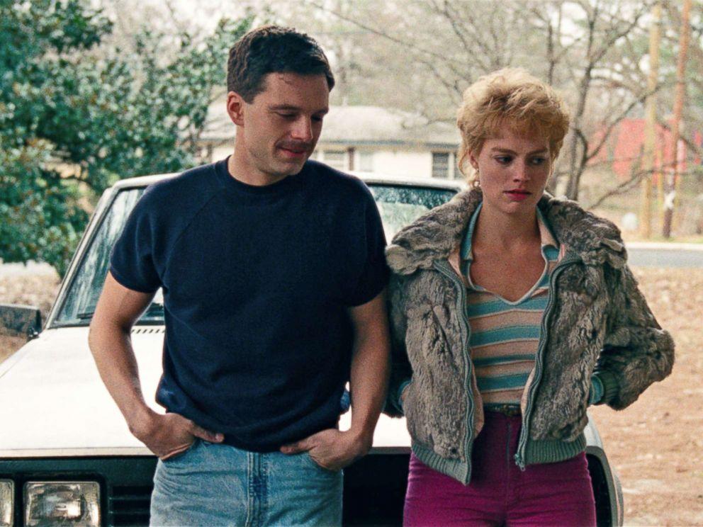 PHOTO: Sebastian Stan as Jeff Gillooly, left, and Margot Robbie as Tonya Harding in a scene from I, Tonya.