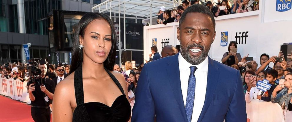 """PHOTO: Sabrina Dhowre (L) and Idris Elba attend """"The Mountain Between Us"""" premiere during the 2017 Toronto International Film Festival at Roy Thomson Hall, Sept. 10, 2017 in Toronto, Canada."""
