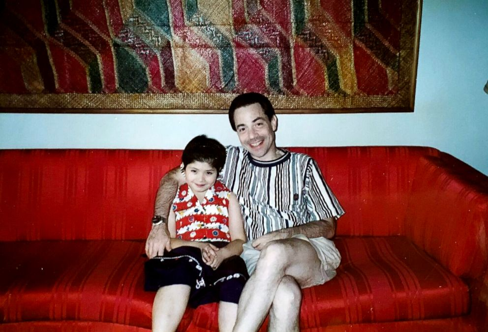 PHOTO: Ina Burke and her father are photographed here in this family photo.