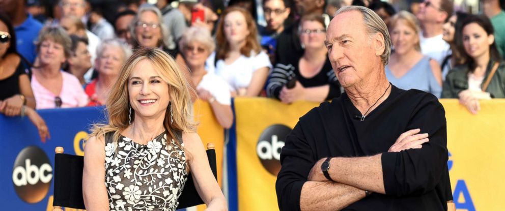 "PHOTO: Craig T. Nelson and Holly Hunter talk ""The Incredibles 2"" with ""GMA."""